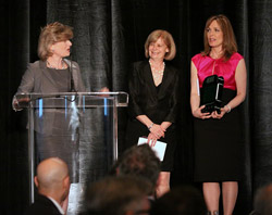 Willa Black, Cisco [left] and Dianne Buckner [right], presents Louise Paul, CTN of Simcoe York [centre] with her Ingenious Award