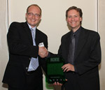 TinyEYE CEO, Greg Sutton [left], and Ingenious sponsor/ former ITAC Board member, Doug Cooper of Intel [right]