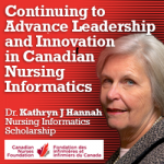 First Canadian Scholarship in Nursing Informatics